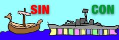 Dos barcos, sin y con compartimentos estancos