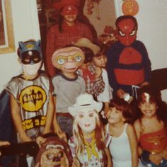 Throwback Thursday... #halloween #batman #spiderman #e.t. #oldschoolcostumes
