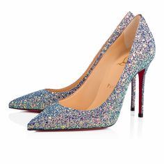 """""""Decollete 554"""" is a vision in this season's luminous etincelle glitter dragonfly. Prepare your party looks this season with this irresistible 100mm pump."""
