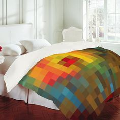 """""""Glorious Colors"""" MADART Duvet Cover by Deny Designs"""