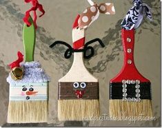 Super Fun Kids Crafts : kids Christmas crafts Great to spruce up Daddy& Garage with some Christmas Decorations Noel Christmas, Diy Christmas Ornaments, Christmas Projects, Winter Christmas, Holiday Crafts, Holiday Fun, Christmas Decorations, Ornaments Ideas, Christmas Ideas