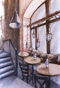 Section Drawing Architecture, Interior Architecture Drawing, Architecture Drawing Sketchbooks, Conceptual Architecture, Watercolor Architecture, Interior Design Sketches, Landscape Architecture Design, House Architecture, Marker Kunst