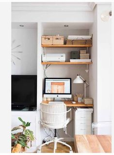Small House Interior Design, Interior House Colors, Home Office Design, Home Office Closet, Cozy Home Office, Home Office Inspiration, Office Ideas, Desktop Design, Shops