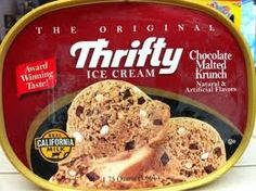 Double Chocolate Malted Crunch Ice Cream! Only at Thrifty's : ( which is no longer in business!!!