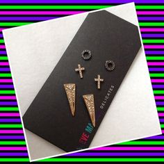 Authentic Steve Madden Earrings % AUTHENTIC ✨ These are 3 beautiful pairs of earrings from Steve Madden New with tag NO TRADE  Steve Madden Jewelry Earrings