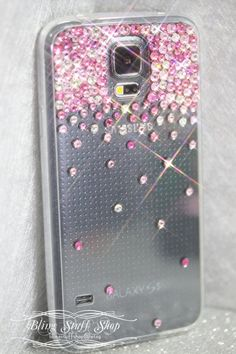 Samsung Galaxy S5 case with Swarovski elements by blingstuffshop, $28.00