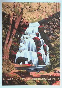 Smoky Mountain National Park, Great Smoky Mountains, National Parks, Movie Posters, Anime, Cards, Film Poster, Cartoon Movies, Anime Music