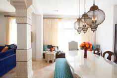 Southampton Moroccan - eclectic - dining room - houston - Laura U, Inc.