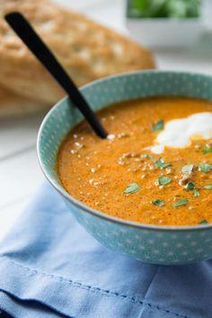 Mega lecker - Ajvar Suppe mit Hackfleisch