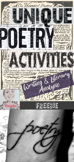 Here are some fun, interactive, and creative poetry activities by Bespoke ELA to get your students hooked on poetry. This list includes 5 creative writing poetry activities as well as 5 unique poetry analysis strategies. These are great activities for int Teaching Poetry, Teaching Writing, Teaching English, Teaching Ideas, Writing Rubrics, Paragraph Writing, Opinion Writing, Persuasive Writing, Essay Writing