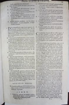 CABEDO, Jorge de, 1525-1604. Praticarvm observationvm sive decisionvm svpremi senatvs : pars prima. Antverpiae: Joannem Baptistam Verdussen, 1684. Detalhe: interior da obra