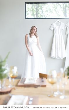 Simplistic High Neck Wedding Gown | Photography by Susan du Toit Photography | Styled Shoot | Wedding Dress by White Lilly Bridal