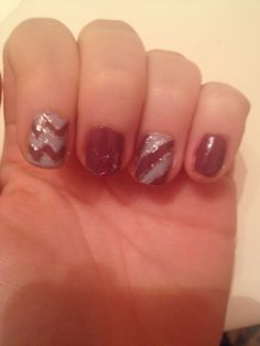 Mauve and light purple nails