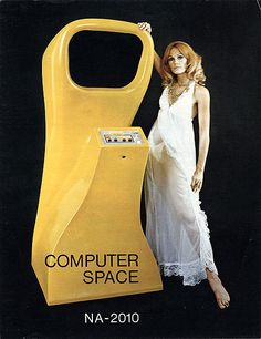 1970s 'Computer Space' arcade game (lady in a negligee sold separately)