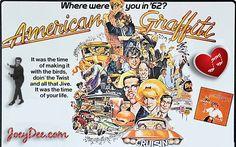 Original movie poster from the classic 1973 United Pictures George Lucas nostalgia film American Graffiti. Quad, Terrifying Horror Movies, Cindy Williams, American Graffiti, Caricature Artist, Mad Magazine, British, Original Movie Posters