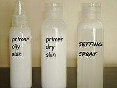 Starter Makeup Kit and More! DIY Primer and Setting Spray. Best primer and setting spray recipe I've found so far.DIY Primer and Setting Spray. Best primer and setting spray recipe I've found so far. Make Up Kits, Skin Makeup, Beauty Makeup, Beauty Tips, Makeup Brushes, Beauty Care, Drugstore Makeup, Sephora Makeup, Hair Beauty