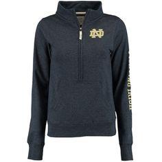 Notre Dame Fighting Irish Alta Gracia Women's Lidia Half-Zip Fleece Jacket - Navy