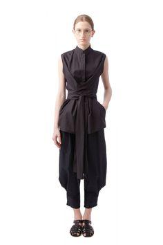 Black wrap shirt | Nehera.com