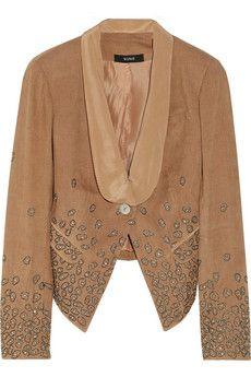 Embellished corduroy blazer by Suno