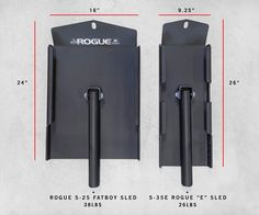 """Rogue S-25 """"Fat Boy"""" Sled - Weight Sleds - Rogue Fitness Commercial Fitness Equipment, No Equipment Workout, Crossfit Home Gym, Dream Gym, Steel Deck, Gym Machines, Rogue Fitness, Gym Room, Garage Gym"""