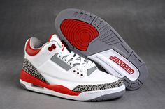 161b5d3167a7d3 Air Jordan 3 Retro White Fire Red Cement Grey  Air Jordan 3 68  -