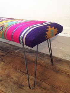 I'd love to make something like this with an old horse blanket and some IKEA legs!