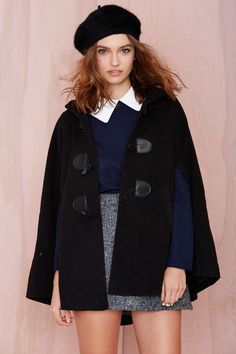 XS! Nasty Gal Reese Cape | Shop Jackets + Coats at Nasty Gal