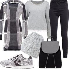 How to wear...casual  outfit donna Basic per scuola universit  e tutti i  giorni  ed58f8785e0