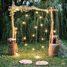 Casamento rústico iluminação