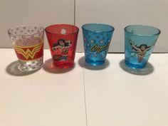 Wonder Woman Shot Glass Gift Set Lot Of 4 Dc Collectibles 2017 Dc Comics