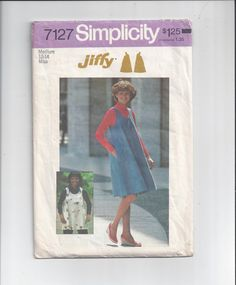 Simplicity 7127 Pattern for Misses' Jiffy by VictorianWardrobe, $8.00