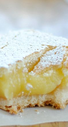 Ina Garten's Lemon Bars Recipe ~ buttery crust, creamy-gooey filling, and crispy sugar top... PERFECT!