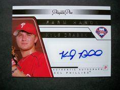 2006 Tristar Prospects Plus Farm Hands Autograph #17 Kyle Drabek Phillies NM/MT