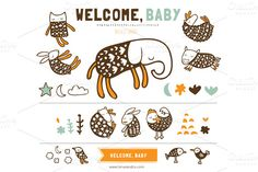 Check out Welcome Baby (Clipart) by LaRue & Company on Creative Market