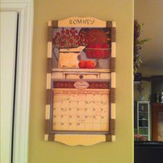spruce up your calendar holder with a little twine and scrapbook paper