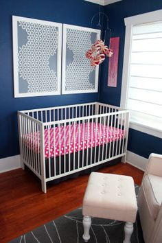 Violet S Navy And Pink Nursery