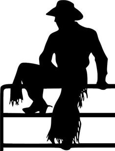 A cowboy for a silhouette. Western Theme, Western Art, Western Signs, Cowboy Western, Plotter Cutter, Westerns, Silhouette Images, Moose Silhouette, Wood Burning Patterns