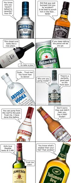 If the bottle starts talking to you, you might want to reconsider your drinking habits.