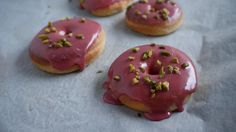 Vegan Baked Donuts with a Rosewater Glaze are super easy to make and a healthier alternative to fried Donuts!