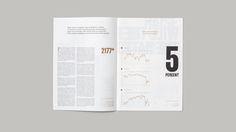 "Gorgeous editorial design by SocioDesign for Capital Magazine, a quarterly financial newspaper. ""With a sparing use of images, the design instead adopts a typographic approach… Minimal Web Design, Grid Design, Page Design, Layout Design, Design Art, Design Ideas, Graphic Design Projects, Graphic Design Inspiration, Editorial Layout"