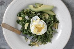 Sauteed Veggies with Avocado and Poached Egg
