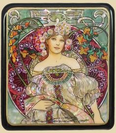 Unsure of the artist, but same style of Mucha Motifs Art Nouveau, Art Nouveau Mucha, Design Art Nouveau, Alphonse Mucha Art, Art Nouveau Poster, Art Nouveau Illustration, Vintage Posters, Vintage Art, Illustrations