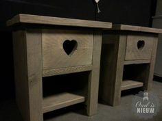 nachtkastje van steigerhout