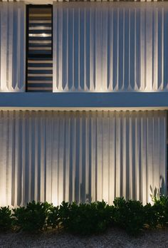 Casa Sebastian Is a Relaxing Pad Surrounded by Nature in the Yucatán Peninsula - Design Milk Exterior Wall Design, Facade Design, Design Design, Modern Design, House Design, Facade Lighting, Exterior Lighting, Wall Lighting, Futuristic Architecture