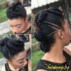 17 Hot Styles - Braided Ponytail for Black Hair in 2019 - Style My Hairs Black Ponytail Hairstyles, Braided Ponytail, Afro Hairstyles, Hairstyles 2016, Modern Hairstyles, Fancy Hairstyles, Natural Hair Updo, Natural Hair Care, Natural Hair Styles