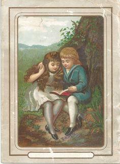 Victorian Trade Card Remer's Tea - Children
