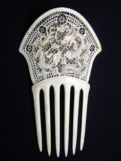 The Closet Historian: Hair Comb History Highlight #8: Ivory and French Ivory Combs