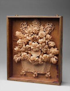 Quillwork Shadowbox ca. 1817, Made in United States, Paper, maple, pine, and glass