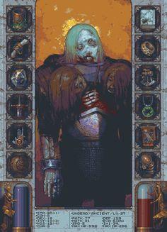 Undead portrait and skill menu Community Art, Digital Art, Game Art, Pixel Art, Art Graf, Elements Of Art, Fantastic Art, Illustration Art, Art