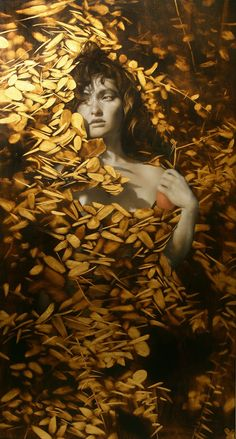 the paintings and artwork of brad kunkle. gold leaf artist and painter brad kunkle. Figure Painting, Painting & Drawing, Illustrations, Illustration Art, Brad Kunkle, Visionary Art, Contemporary Paintings, At Least, Fine Art